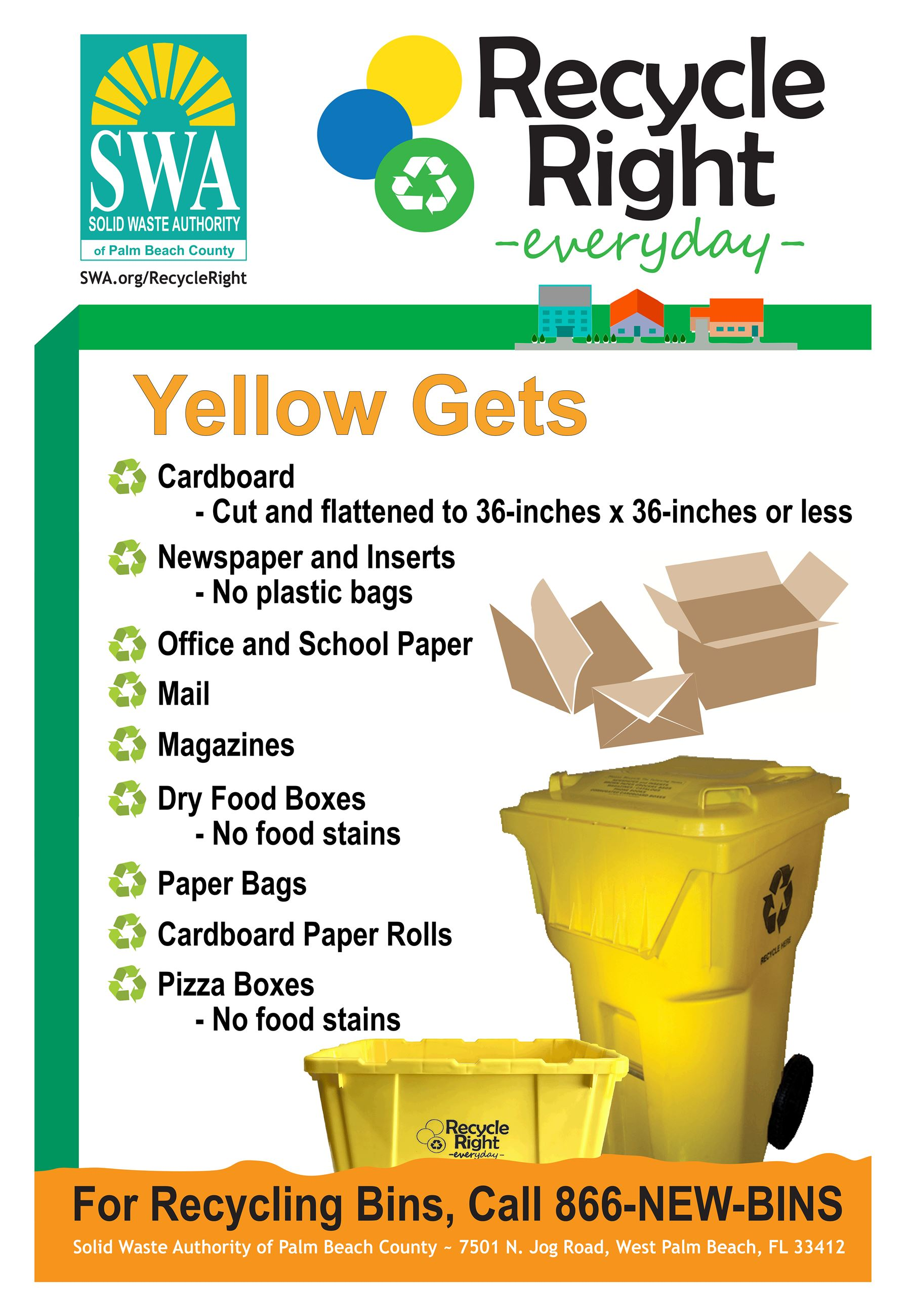 2015 Yellow Recycle Right 8.5x11 Flyer for Web