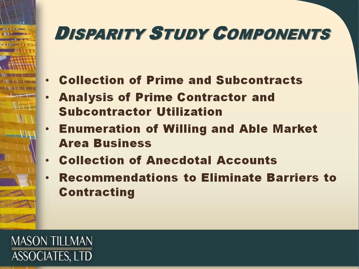 Disparity Study Graphic