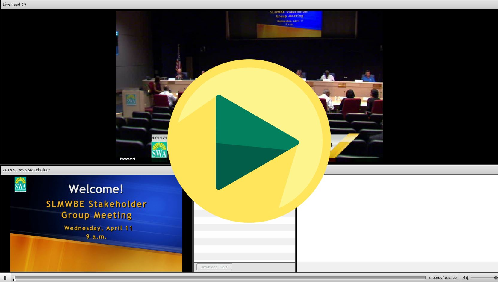 SLMWBE Stakeholder Meeting Screenshot 2018-04-11