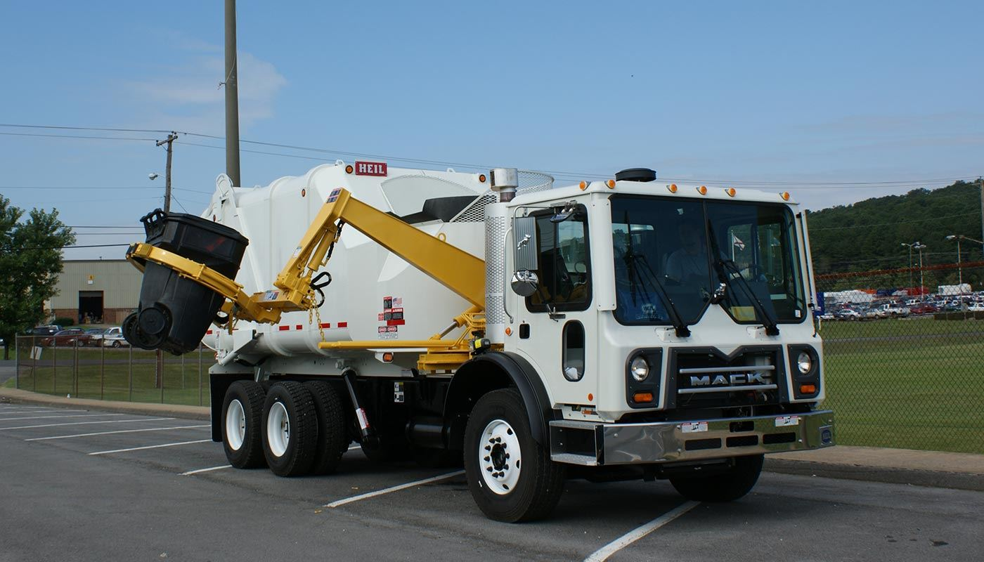automated collection truck