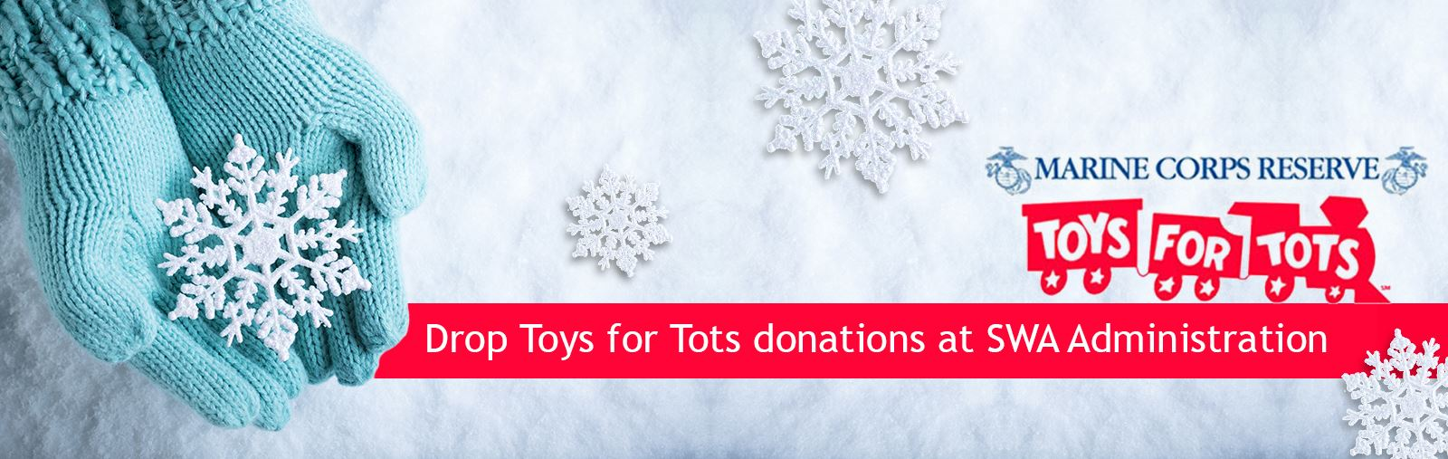 2019 Toys for Tots graphic with link to news release