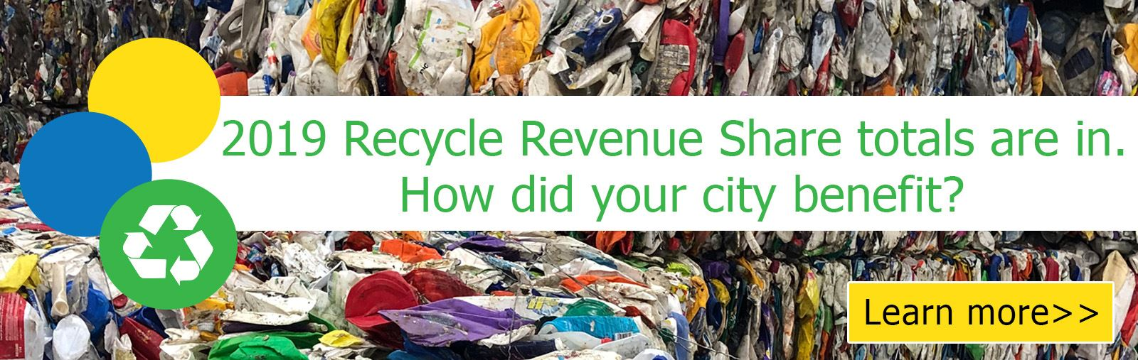 2019 Recycle Revenue Share Totals Banner