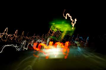 Time-lapse Photo of Lights