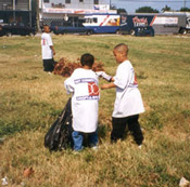 Children Cleaning Up Litter