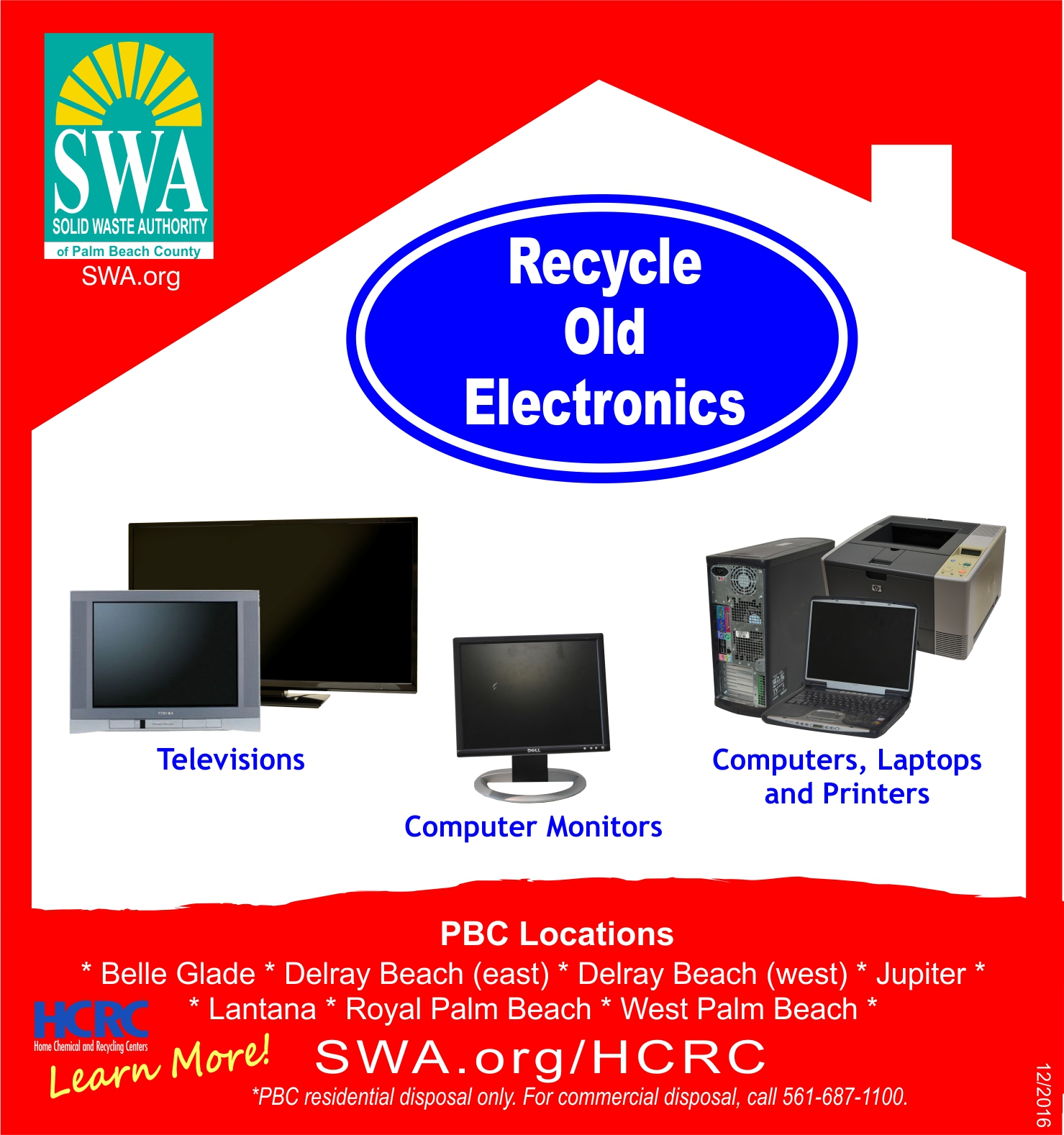 Electronics Solid Waste Authority Of Palm Beach County Fl Recycling Machinery Circuit Board Scrap Computer